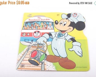 The Mouseketeer's Train Ride, Disney, Mickey Mouse, Vintage, Children's, Book ~ The Pink Room ~ 170209