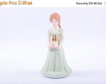 Growing Up Birthday Girls, Ceramic Figures, 1980s, 11th Birthday, Gift, Vintage Home Decor ~ The Pink Room ~ SS004