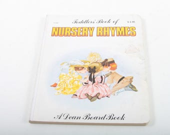Toddler's Book of Nursery Rhymes, Vintage, Dean Board, Book, Story, Bedtime, Tales, Illustrated Pictures Children's ~ The Pink Room ~ 170521