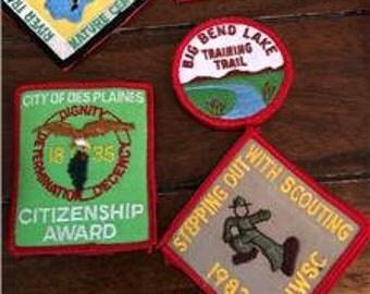 Huge Lot 45 Vintage Boy Scout Patches