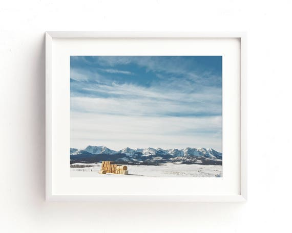 """""""Winter in the Bridgers"""" - landscape photography"""