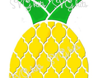Fresh Pineapple INSTANT DOWNLOAD svg Cut File, Includes COMMERCIAL Use for Electric Cutting Machines, Cricut, Silhouette, Summer, Tropical