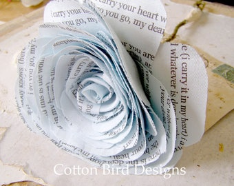 2nd Wedding Anniversary Pale Blue Poem Flower Gift by Cotton Bird Designsmade to order check processing times