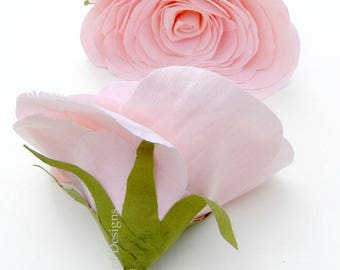 2nd Anniversary Bouquet of 2 Cotton Fabric Flowers in Rose Pink Colour Check processing and delivery times