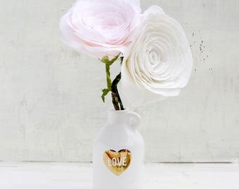 4th Anniversary Linen Roses set of 2  Gift for Her Wife Girlfriend Fiancee Linen  Check processing and delivery times