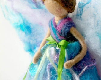 Lupine Flower Fairy: Waldorf Inspired Silk & Wool Fairy (Happiness + Positive Outlook)
