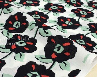Japanese Fabric - Pop flower - white - 50cm