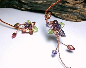 ON SALE Art Nouveau Fairy Torc Necklace Autumn Cornucopia