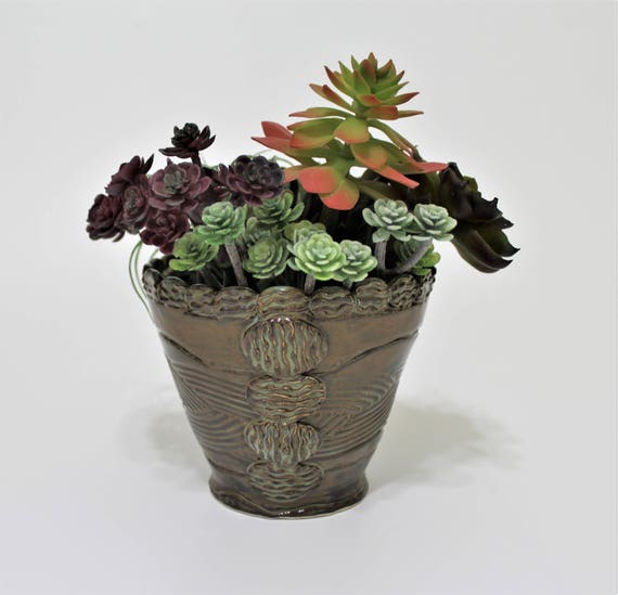 Planter - Succulent Planter - Small Planter - Succulent Bowl - Flower Pot - Succulent Pot - Stoneware - Gift for Couple - Housewarming