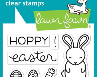 Lawn Fawn Clear Photopolymer Rubber Stamp set - Hoppy Easter