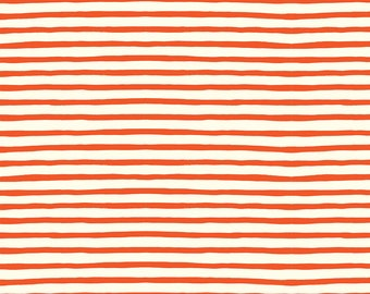 Emily Winfield Martin for Birch ORGANIC FABRIC - Saltwater Double Gauze - Sailor Stripe in Red