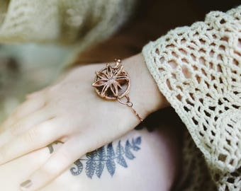 Star Anise Electroformed Bracelet Bohemian Style Foodie Gift Spice Lover