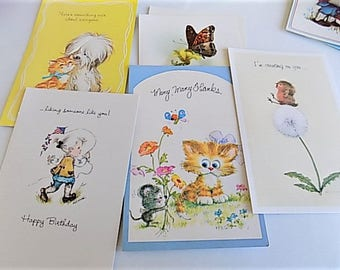 Vintage Assortment of All Occasion Cards Box of 20