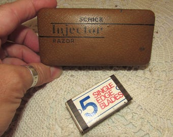 Vintage Schick Injector Razor BOX ONLY, storage box container, carrying case