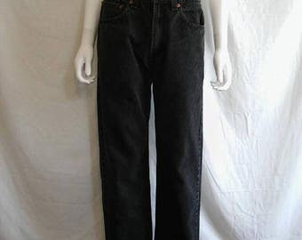 Closing Shop 40%off SALE Levis 550 Jeans - 90s Levis waist W 30 X 30.5  relaxed fit tapered leg black