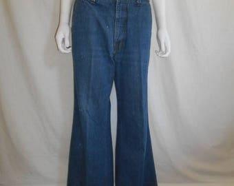 Closing Shop 40%off SALE 60s 70s Levis jeans   boot bell bottoms   W Waist  32