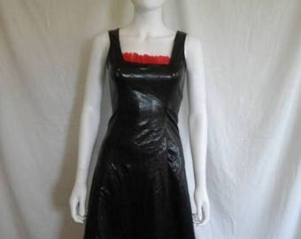Closing Shop 40%off SALE 90s goth club kid dress, rockabilly dress, red black dress