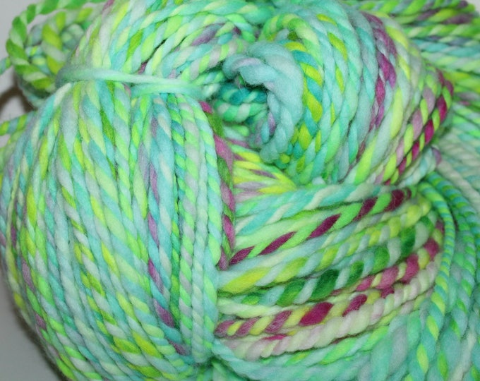 Hand spun Cheviot Wool. 2ply Bulky.  Huge Skein. No Knots. Almost 2lbs. I'm a Sweater.