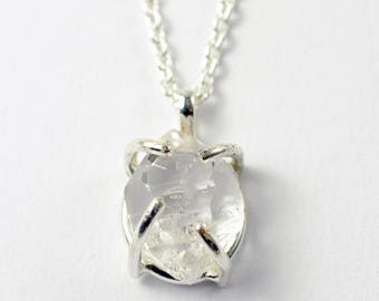 Herkimer Diamond Pendant Necklace - Herkimer Diamond - Pendant Necklace - Diamond Alternative - Everyday Necklace - Gift for Her - N2100
