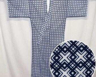 "Vintage Japanese Casual Kimono Man's Cotton Robe Loungewear Sleepwear ""Nemaki"""