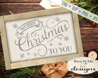 Merry Christmas svg - Christmas svg - Holiday svg - Winter SVG - Snowflake Merry Christmas Cutting File -  Commercial Use svg, dxf, png, jpg