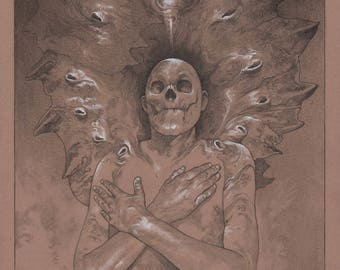 Cocoon Stage of Ascension /  original drawing by Steven Russell Black