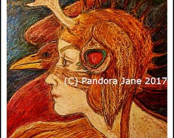 Antler, magical art print, witchy art print, woodland