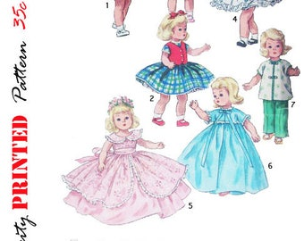 Vintage 1960's - 8 inch alexander-kins, ginny and muffie doll clothes sewing pattern