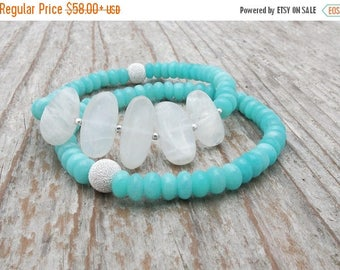amazonite bracelet, moonstone bracelet, moonstone jewelry, aqua gemstone bracelet, blue bridal bracelet, wedding jewelry, gift for her