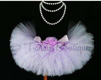 SUMMER SALE 20% OFF Lavender Tutu - Infant Tutu Sewn - Baby's First Tutu - Ready To Ship - sizes newborn up to 12 months