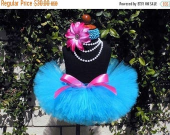 SUMMER SALE 20% OFF Blue Tutu, Blue Pink Tutu and Headband Set, Tutu, Baby Tutu, Birthday Tutu, Berry Blue Blast, Sewn 8'' Tutu, Toddler Tut