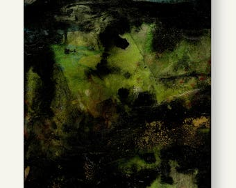 """Abstract Painting, Gray, Black, Mixed Media Art, Canvas Original, Contemporary Modern """"Journey to House of the Spirit"""" Kathy Morton Stanion"""