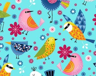 NEW Sunshine Kisses by Studio E -Sunshine Birds on Blue, yard