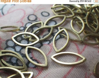 SALE 30% Off Brass Navette or Eye-Shaped Closed Jump Ring 12x6mm 50 Pcs