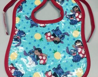 Wipeable Baby Bibs - Lilo & Stitch