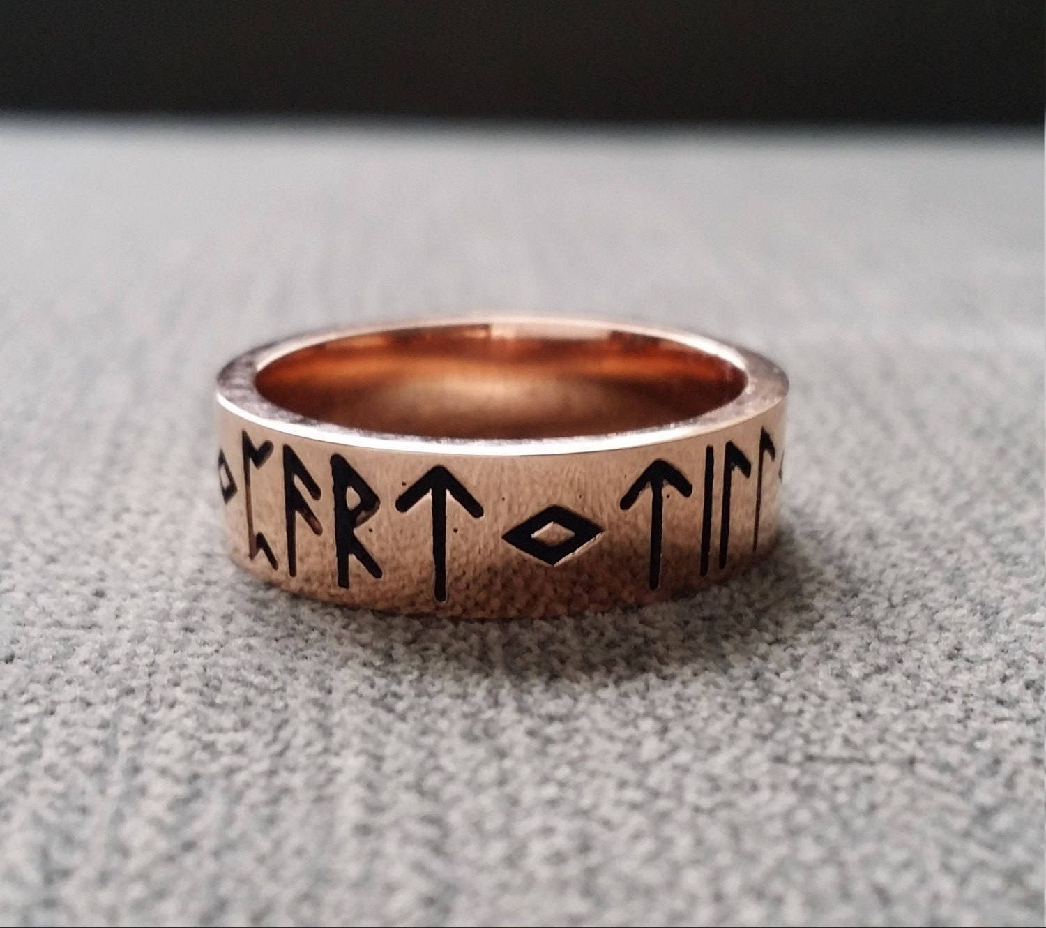 runes by viking norse penellibelle rustic pin quartz gold engagement frigg herkimer the ring world mythology nordic terminated hammered old wedding diamond rose rings