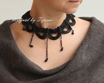 SALE-Necklace-choker-fiber neck piece-unique accessory