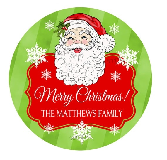 santa christmas stickers personalized santa claus stickers gift