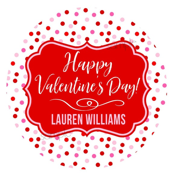 ValentineS Day StickersTreat Labels Personalized Stickers Kids