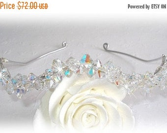 ON SALE 20% OFF Fire and Ice Crystal Wave Tiara