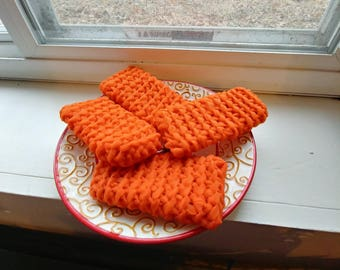 Large Orange Kitchen Scrubbies/Scratch Pads