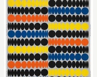 SALE - Sound Waves - IKEA Natfjaril Cotton Fabric