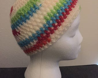 Childs colorful beanie