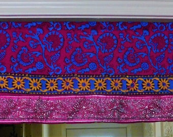 Bohemian Valance Door Toran Boho Curtain