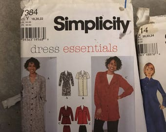 Simplicity Sewing Pattern # 7384 dress essentials Misses Dress Blouse Pants & Skirt