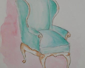 Watercolor of chair