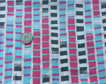 1 yard - SHERBET PIPS scarves in blue by aneela hoey for moda fabric - selling my stash!