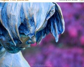 """50% OFF SALE Statue Photograph, Face, Portrait, Still Life Picture, Landscape, Purple, Blue,  - 8x10 inch Print - """"Thinking of Plum"""""""