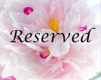Reserved for Claire