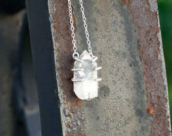 Clear Quartz from Arkansas One of a Kind Sterling Silver Necklace